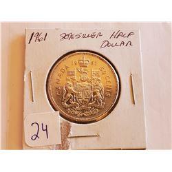 1961 80% Silver Half Dollar - Cdn