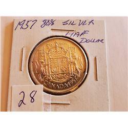 1957 80% Silver Half Dollar - Cdn