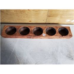 "WOODEN MEXICAN CHEESE MOLD - 5 HOLE, 4"" HOLES (Great Crafter's Item - Check Pinterest!)"