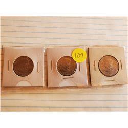 3 - 1979D U.S. Susan B Anthony One Dollar Coins