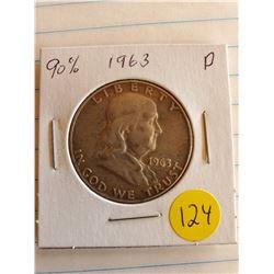 U.S. 1963D Franklin Half Dollar - 90% Silver