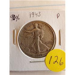 U.S. 1943D Walking Liberty Half Dollar - 90% Silver