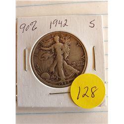 U.S. 1942S Walking Liberty Half Dollar - 90% Silver