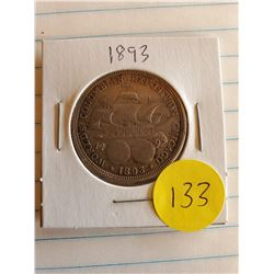 U.S.  1893 Barber Half Dollar - Chicago World Expo - 90% Silver