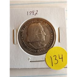 U.S. 1892 Barber Half Dollar - Chicago World Expo - 90% Silver