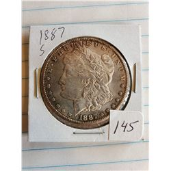 U.S. 1887S Morgan Silver Dollar - 90%