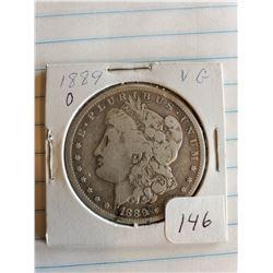 U.S. 1889O V6 Morgan Silver Dollar - 90%