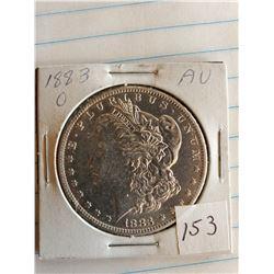 U.S. 1883O AU Morgan Silver Dollar - 90%