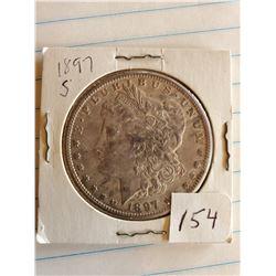 U.S. 1897S Morgan Silver Dollar - 90%