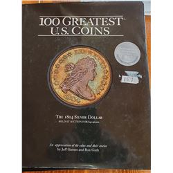 100 Greatest U.S. Coins Hard Cover Book - 120 Pages