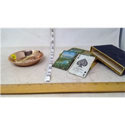 Greenwood Ash Tray and Playing Cards