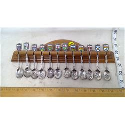 Canadian Legion Spoons and Spoon Rack