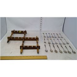 Spoon Rack with Spoon Collections (21 Spoons)