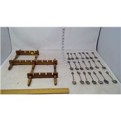 Spoon Rack with Spoon Collection (21 Spoons)