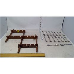 Spoon Rack with Spoon Collection (16 Spoons)