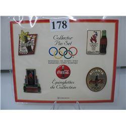 1996 ATLANTA OLYMPICS - COCA COLA PINS - Set of 4