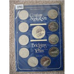 SASKATOON TRADE DOLLAR SET OF 10 COINS