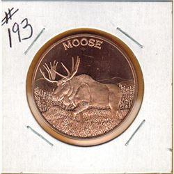 1 OUNCE .999 FINE COPPER - MOOSE - 1OZ COPPER COIN - MOOSE