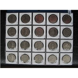 CANADIAN NICKEL DOLLARS - 1968-1986 - 20 Different Coins