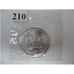 1988  1 TROY OUNCE .9999 SILVER CANADIAN  $5.00 MAPLE LEAF