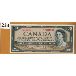 1954 BANK OF CANADA - $100.00 BANKNOTE
