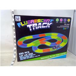 Fluorescent Racetrack with Car