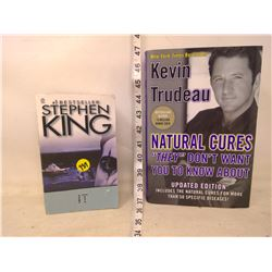 Stephen King It Book and Kevin Trudeau Book