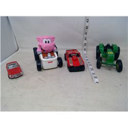 Tractor and Cars