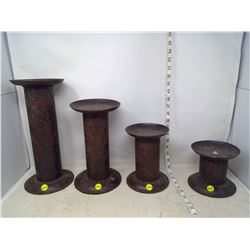 4 Large Candle Holders/Stands