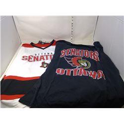 Ottawa Senators Jersey #11 Alfredsson XL and Ottawa Senators T-Shirt XL