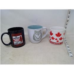 Canada, Owl, and Man Cave Mugs
