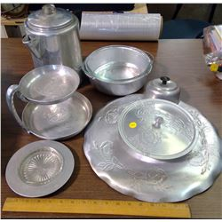 LOT OF TIN DISHES