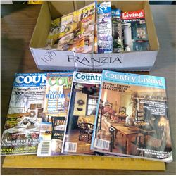 LOT OF MAGAZINES - COUNTRY LIVING, COUNTRY SAMPLER, ETC.