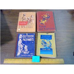 LOT OF VINTAGE SCHOOL BOOKS - SCIENCE, MATH, ETC.