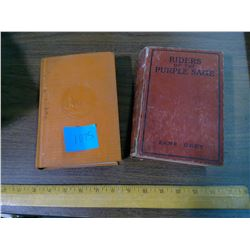TWO ZANE GREY BOOKS