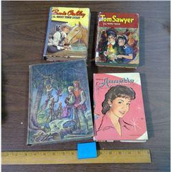 LOT OF FOUR BOOKS - ANNIE OAKLEY, TOM SAWYER, ETC.