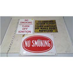No Smoking Steel Signs (3)