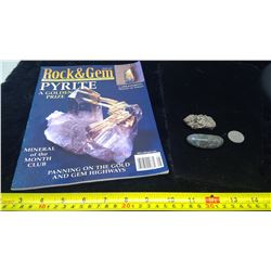 Pyrite, Labradorite, and Rock & Gem Magazine