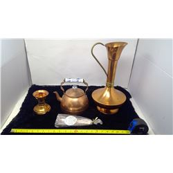4 Piece Copper Dish Set