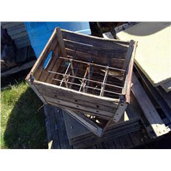 Lot of 2 Dairy Crates