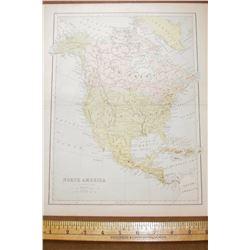 Map  North America  Carte geographique