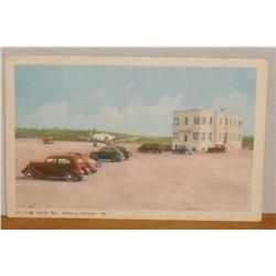 Old in colour Post Card Air Port North Bay, Canada 60 Poste carte vieille en couleur