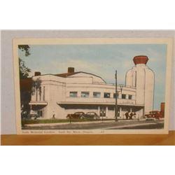 Old in colour Post Card Sault Memorial Gardens, Sault Ste Marie Canada Poste carte vieille couleur