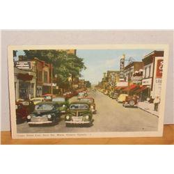 Old Post colour card Queen Street East Sault Ste Marie Ontario Canada 5 Post carte vielle en couleur
