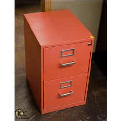 SALMON 2 DRAWER FILING CABINET