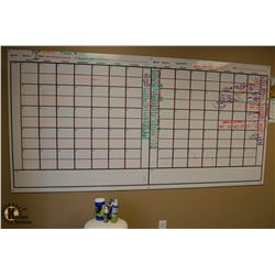 LARGE PLANNING WHITE BOARD W/ WHITE BOARD MARKERS