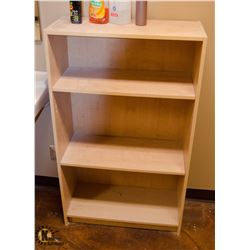 LIGHT WOOD FINISH BOOK SHELF