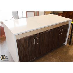 GRANITE TOP STORAGE CABINET / TABLE