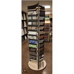 "SPINNING TILE DISPLAY 82"" TALL"