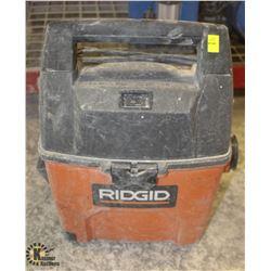 RIGID 3 GALLON PORTABLE WET/DRY VAC (NO HOSE)